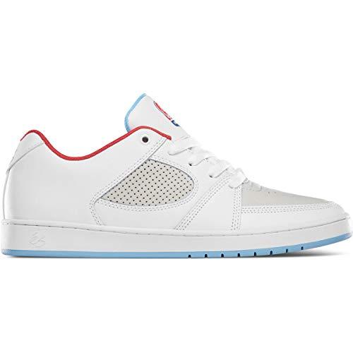 eS Herren Accel Slim Skate Schuh, (Weiß Weiß Blau), 39.5 EU