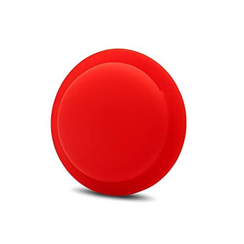 CoverKingz Funda de silicona para Apple AirTags 2021 adhesivo – Carcasa autoadhesiva – Soporte adhesivo – Pegatina Airtag – Soporte de silicona para carcasa rojo