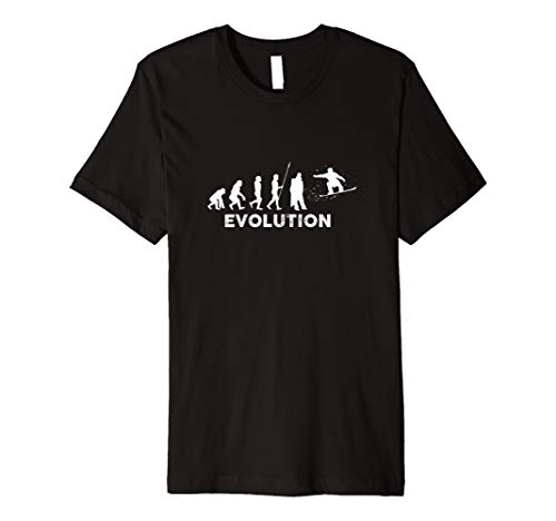 Evolution Snowboarder Wintersport Ski Shirt | Mann Frau