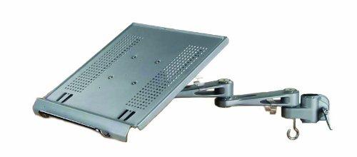 LINDY 40699 – Modularer Notebookhalter - Modulares Halterungssystem für Monitore und Notebook – Höhenverstellbar – Silber
