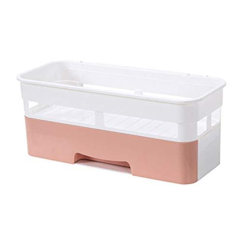 WWWT Bad Bad Regal, WC-Waschtisch Handtuchhalter, Wandbehang, kosmetische Aufbewahrungsbox-Pink