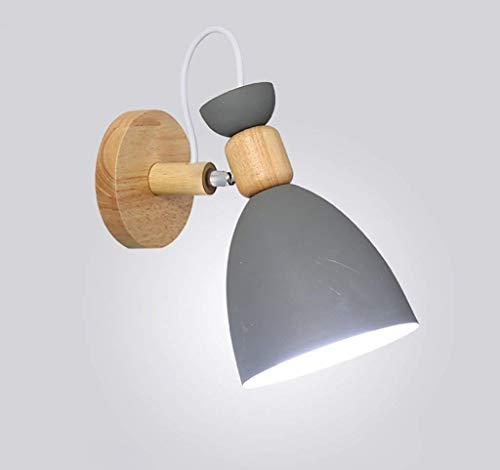 Lámpara de Pared, Pared al aire libre Moderno Minimalista Dormitorio nórdico Dormitorio Cálido Hierro forjado Material Lampa Mesita de noche Creativa Personalidad simple Sala de