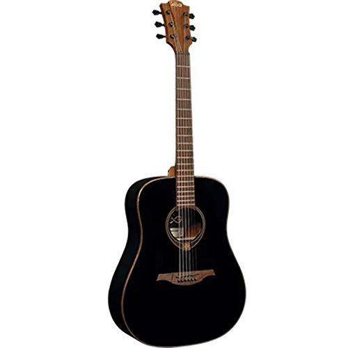 LG Tramontane T118D-BLK Dreadnought Acoustic Guitar. Black