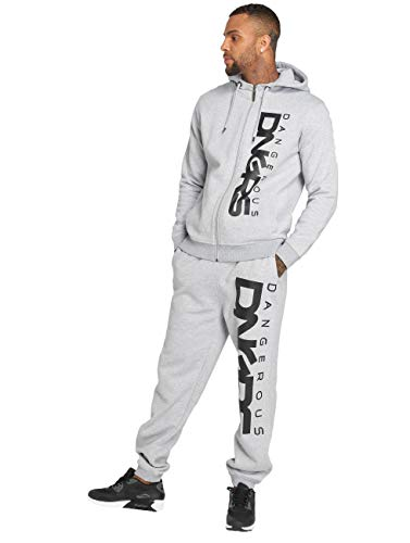 Dangerous DNGRS Jogginganzug Sweat Suit Freitzeit Sport Relaxed Anzug Grau Classic M