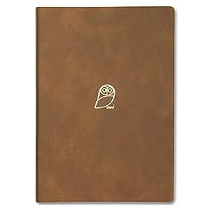 アーティミス 手帳 2022年 B6 マンスリー オウル ブラウン 22WMB6-HO (2021年10月始まり)
