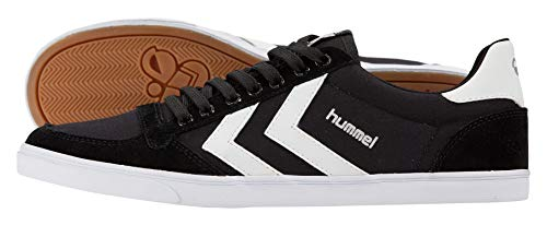 hummel Unisex-Erwachsene Slimmer Stadil Low Sneakers, Schwarz (Black/White KH), 44 EU (9.5 Erwachsene UK)