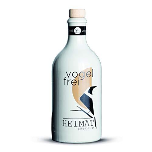 VOGELFREI alkoholfreie Gin Alternative mit 21 fruchtigen Botanicals aus der HEIMAT Destille wie Zitronenverbene, Thymian, Wiesensalbei und Wacholder - Handcrafted (1 x 0,5l)