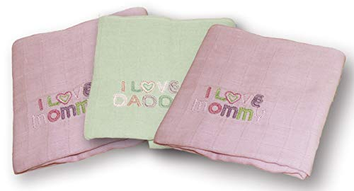 Fillikid Lot de 3 langes Rose/vert