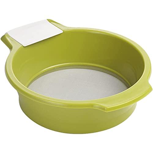 Tamiz de harina de mano Tamiz de harina para el hogar 40 mallas de uso diario (color verde, tamaño: talla única)