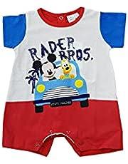 Sicem International Srl Mono corto Mickey Mouse y pluto para niño de verano de algodón Jersey canastillo para bebé (B2WD101765 rojo, 1-3 meses)
