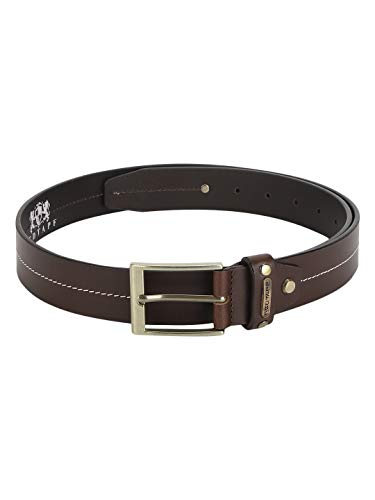 Red Tape Men Brown Leather Belt, XX-Large (RBL502)