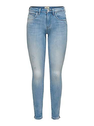 Only Onlkendell Regsk Ank Zipjnscre85148 Noos Jeans Skinny, Blu (Light Blue Denim Light Blue Denim), W29/L32 (Taglia Produttore: 29) Donna
