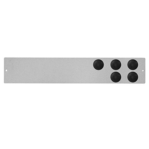Pack de Tablero Recordatorio Magnético Adhesivo (30 x 5,5 cm) y 5 Imanes Negros (2 x 2 cm), Pizarra Magnética, Tablero Magnético, Panel Magnético (Gris)