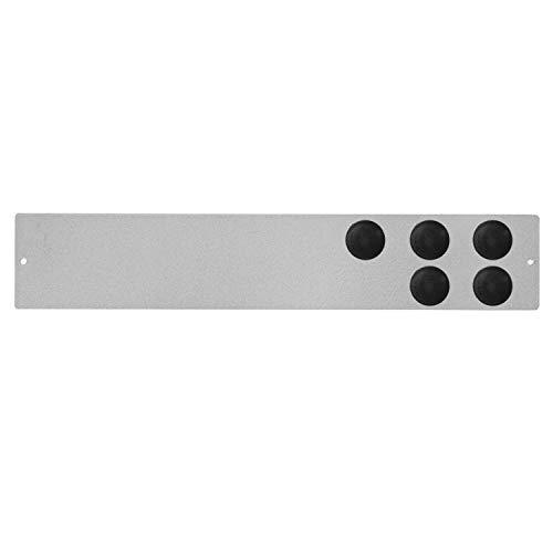 Desconocido Pack de Tablero Recordatorio Magnético Adhesivo (30 x 5,5 cm) y 5 Imanes Negros (2 x 2 cm), Pizarra Magnética, Tablero Magnético, Panel Magnético (Gris)