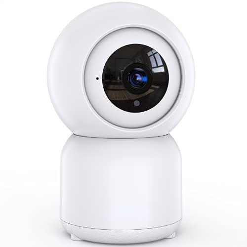 Überwachungskamera Innen, 1080P WLAN IP Kamera, Nachtsicht, Zwei-Wege-Gespräch, Funktioniert mit Alexa Assistant, Home und Baby Monitor mit Bewegungserkennung, App Steuerung unterstützt, IOS/Android