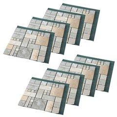 天然石マット 8枚セット 【雑草が生えない天然石マット ローマ調 4枚組 0218065 2個】