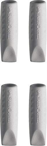 Faber-Castell - Tapas de goma (4 unidades), color gris