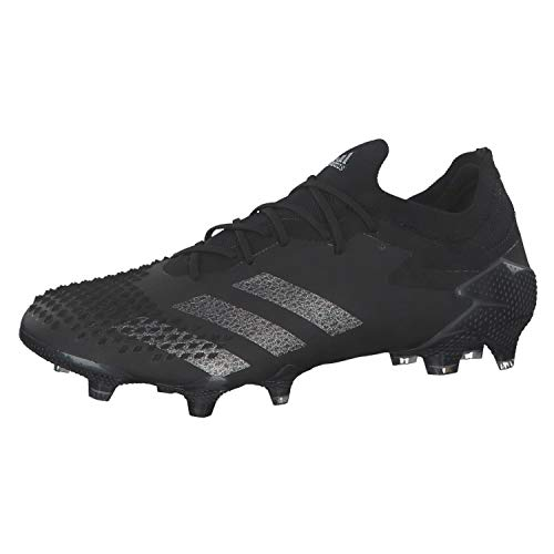 adidas Predator Mutator 20.1 L Firm Ground, Scarpe da Football Uomo, Cblack Cblack Silvmt, 46 2/3 EU