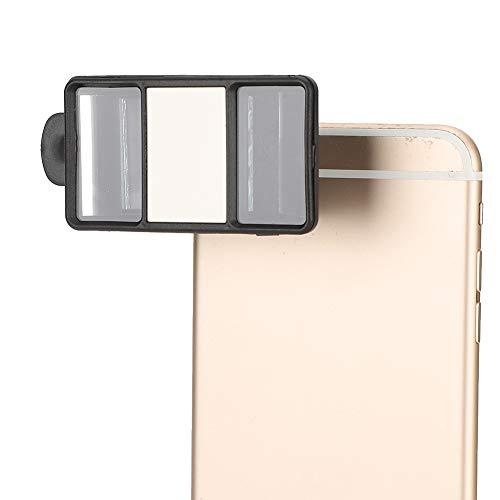 Aukson Lente de cámara 3D, Lente estereoscópica VR para teléfono, Lente de cámara Mini con Clip, Lente de cámara de teléfono Profesional con Clip, Plástico ABS + Cuarzo
