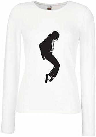 Camisetas de Manga Larga para Mujer Me Encanta MJ - Ropa de Club de Fans