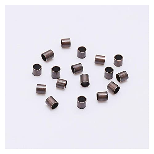 CHUNMA 500 unids 1.5 2.0 2.5mm Tubo DE Cobre DE Oro DE CRIMAJE DE CRIMAJE DE CRIMAJE DE TAPAPER Spacer Beads para JOYERÍA Hechos Hechos SUSTROS (Color : Antique Copper, Size : 2.5mm)