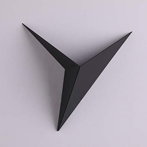 GKJRKGVF LED-wandlamp, driehoekig, minimalistisch, 3 W, AC85-265 V, woonkamerlamp