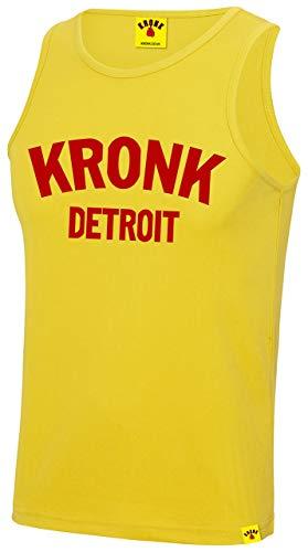 KRONK Detroit Gilet da Allenamento Palestra per Uomo Grande Giallo