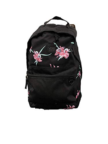 VANS Black Floral BackPack Turbon laptop Travel Uni School Work