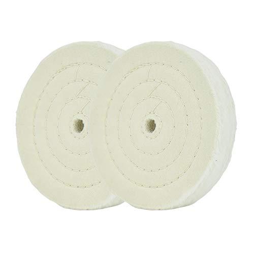 Spiralgenähte Polierscheibe Spiegelpolierscheibe 6 Zoll (70 Lagen) für Tischschleifwerkzeuge 2 STÜCKE