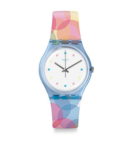 Swatch Damen Analog Quarz Uhr mit Silikon Armband GS159