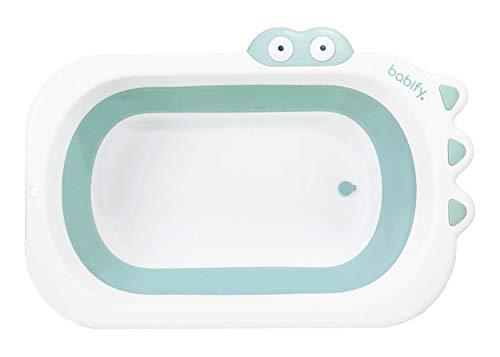 Babify Shower Bañera Plegable de Bebe - Plegado ultra compacto - Antideslizante - Color Menta