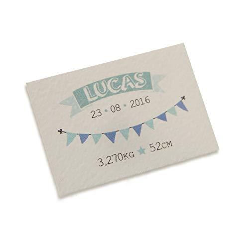 Mopec kaart horizontaal met wimpelketting voor kinderen, verpakking met 5 vellen, karton, wit, 0,02 x 3,50 x 5,00 cm, 5 stuks