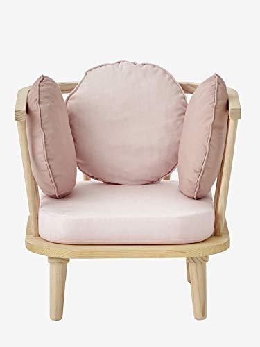 Vertbaudet Retro-Sessel für Kinderzimmer rosa/Natur ONE Size