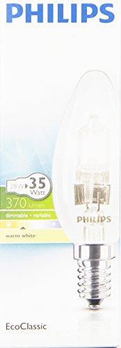Preisvergleich Produktbild Philips 25265120 Classic 30 E14 B35 Brilliantes Halogenlicht 28W in Kerzenform,  klar
