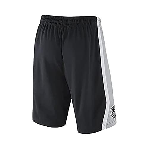IFYG Pantalones Cortos de Baloncesto NBA Spurs Hot Pressed M Black