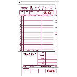 Metro Shop National Checking Company 3 5/16-in X 6-in Green Guest Check (Case of 50)