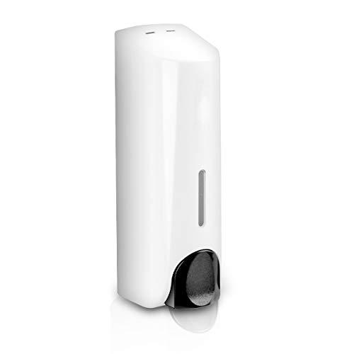 Dispensador de Jabón para Ducha Gel Champú Acondicionador ABS Montaje en pared Blanco