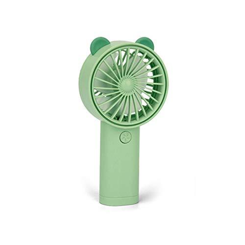 Ventilador De Burbujas, Mini Dibujos Animados De Carga USB De Mano con Luz LED, Ventilador De Enfriamiento para Fabricantes De Burbujas, Juguete para Niños Oso Verde Soportar