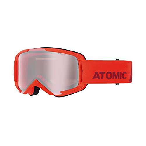 ATOMIC Savor M Skibril (kleur: rood, schijf: Silver Flash)