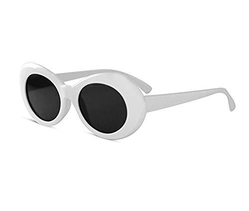 KGM Accessories Cool Nirvana Kurt Cobain Style Clout Sonnenbrille, Weiß