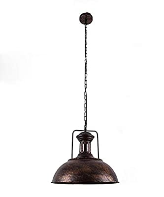 OYI Retro Industrial Pendant Lighting, Vintage Nautical Barn Pendant Light Oil Rubbed Rustic Dome Bowl Shape Mounted Light Fixture Ceiling Lamp (Rust Copper)