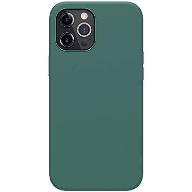 "Nillkin Case for Apple iPhone 12 Pro Max (6.7"" Inch) Flex Pure Case Liquid Silicon Finish Anti Finger Print with Inner Microfibre Green Color"