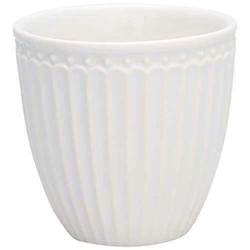 GreenGate - Becher, Tasse, Kaffeetasse, Mini Latte Cup - Alice - Porzellan - white - 125 ml