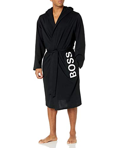 Hugo Boss Herren Identity Hooded Gown 10121122 03 Bademantel, schwarz, XX-Large