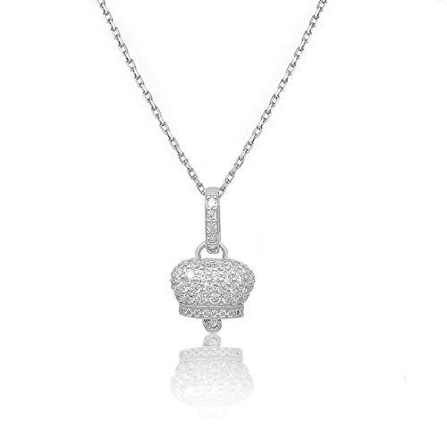 IF jewelry Collana Donna Campanella Campanellina Sonaglio In Argento 925 Con Zirconi C01 argento-bianco