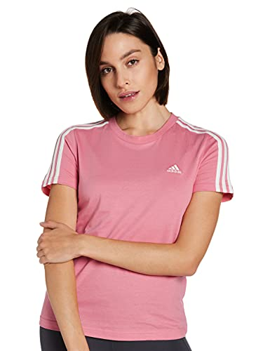 adidas GL0787 W 3S T T-Shirt Womens Hazy Rose/White XL
