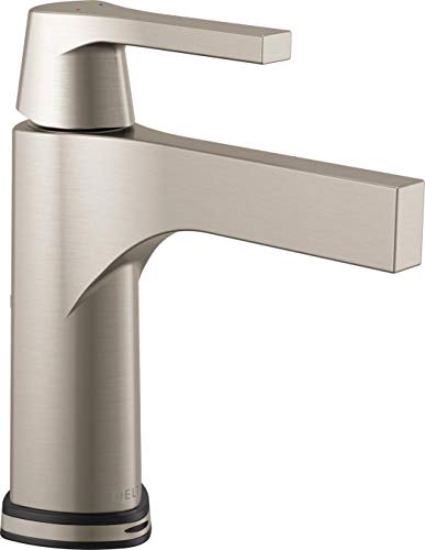 Delta Faucet 574T-SS-DST, Stainless Zura Single Handle Centerset Lavatory Faucet with Technology