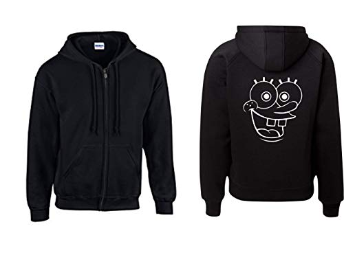 Textilhandel Hering Jacke - Spongebob (Schwarz, XL)