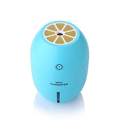 SZCHENGCI Lemon Humidifier LED Night Light USB Mini Cool Mist Humidifier For Home Office Car Travel (Blue)