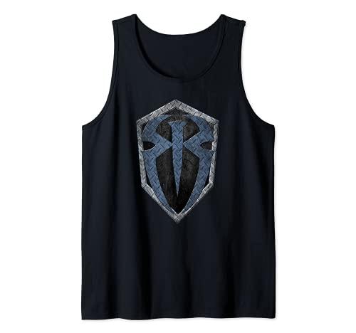 US WWE Roman Reigns + Logo Metal 01 Negro Camiseta sin Mangas